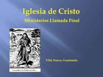Los tronos del Hijo.pdf - IGLESIA DE CRISTO - Ministerios Llamada ...