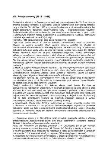 VIII. Povojnové roky (1918 - 1938) - Železiarne Podbrezová as