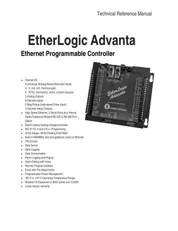 EtherLogic Advanta Controller - Industrial Control Links