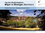Tag des Studienbeginns Bachelor in Biologie - Departement Biologie