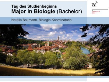 Tag des Studienbeginns Bachelor in Biologie - Departement Biologie