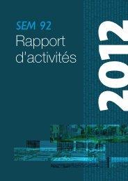 Télécharger le Rapport d'activités - SEM 92