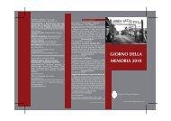 GIORNO DELLA MEMORIA 2010 - DIDAweb