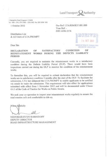 231-2012_LTA_Declaration Satisfactory Condition of Reinstatement ...