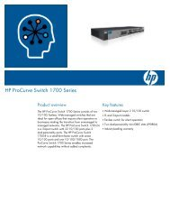 HP ProCurve Switch 1700 Series - Moonblink