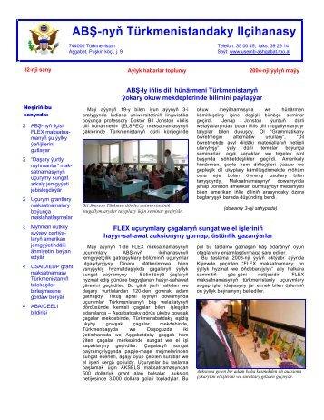 Maý 2004 - ABŞ-nyň Ilçihanasy Aşgabat, Türkmenistan