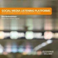 SOCIAL MEDIA LISTENING PLATFORMS - Fleishman-Hillard