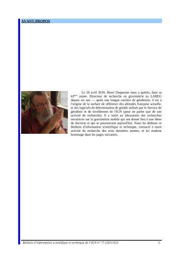 Jiang, Z., H. Duquenne (1997) On fast integration ... - Recherche - Ign
