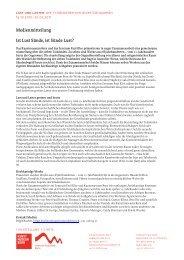 Medienmitteilung Lust und Laster - Zentrum Paul Klee