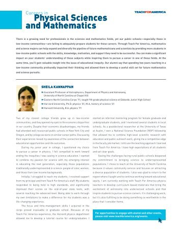 Physical Sciences and Mathematics - The Department of Physics ...