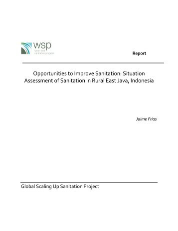Situation Assessment of Sanitation in Rural East Java ... - WSP