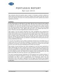Pertussis report Apr-Jun 2013 - Public Health Surveillance