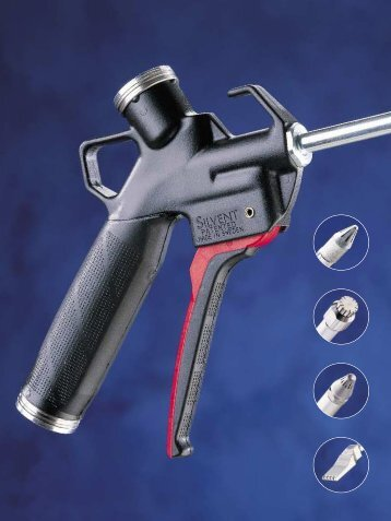 safety gun with a flat nozzle