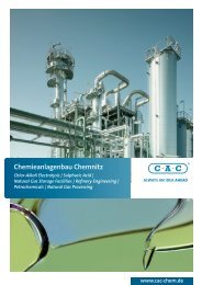 Natural gas processing - Chemieanlagenbau Chemnitz GmbH