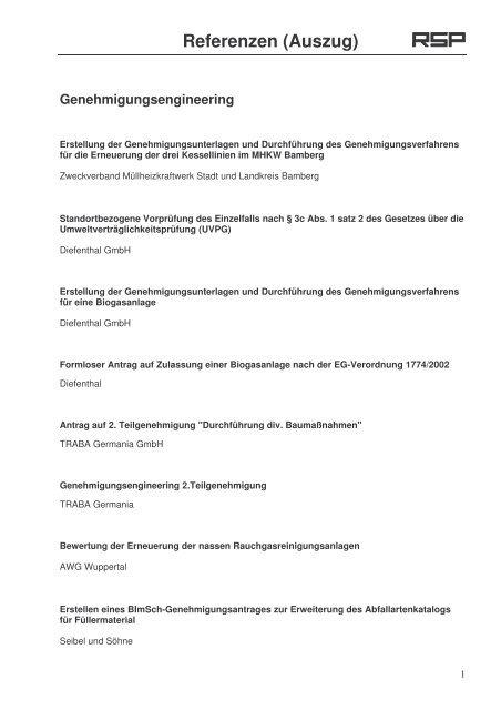 Referenzen (Auszug)