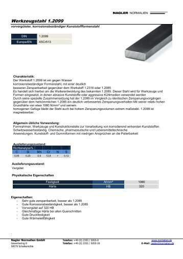 Download 1.2099 - Nagler Normalien GmbH