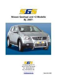 Nissan Qashqai und +2 Modelle Bj. 2007- - SGS