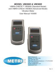 MANUAL, VIBRACHECK, VM2800 & VM3800 ... - Istec International