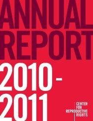 Annual Report 2010-2011 - Center for Reproductive Rights