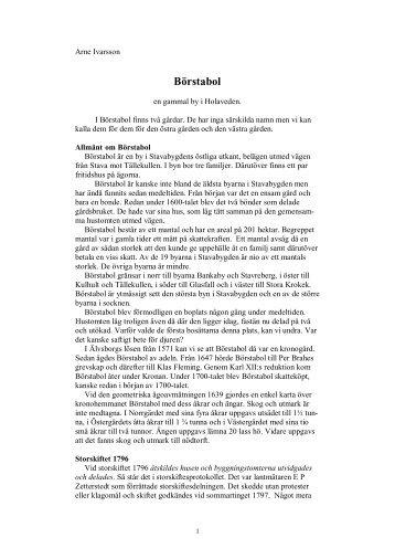 Börstabol - Ödeshögs hembygdsbok