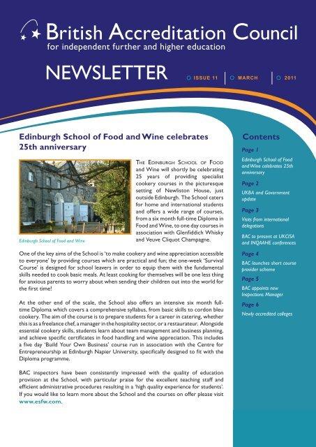 Newsletter February 2011.indd - BAC