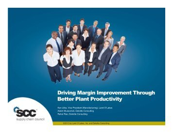 Driving Margin Improvement Through Better Plant Productivity