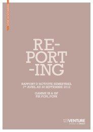 Rapport d'activité semestriel (1er avril 2012 - 30 septembre 2012)