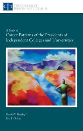 Career Patterns of the Presidents of Independent Colleges ... - ERIC