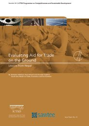 Evaluating Aid for Trade on the Ground: Lessons from Nepal