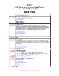 Meeting Agenda - SEARCH - National Consortium for Justice ...
