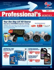 Professional's Monthly - CARQUEST Auto Parts