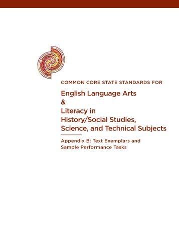 English Language Arts & Literacy in History/Social Studies, Science ...