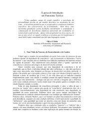 À guisa de Introdução: um Panorama Teórico - Claudio Naranjo
