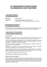 Le Groupement d'employeurs en arboriculture fruitière - Chambre ...