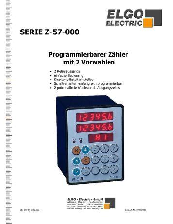 1. Einleitung/Kurzbeschreibung - ELGO Electric GmbH