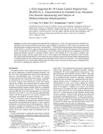 Re2Pt(CO)12 - Inorganic Chemistry and Catalysis