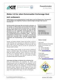 PI 2011 141 Wetter 2.0 Vor allem Extremwetter ... - IMK-TRO - KIT