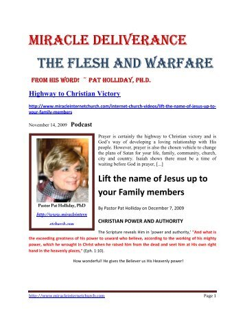 08-18-10 The Flesh and Warfare - Remnant Radio Home Page