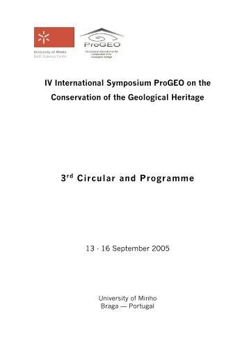 3rd Circular and Programme - Universidade do Minho