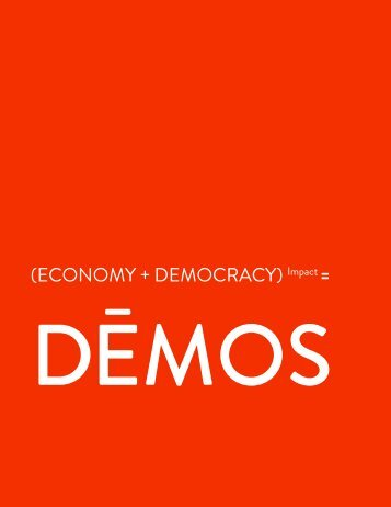 Download Our 2011 Annual Report - Demos