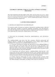 Annex Eligibility Criteria - Cooperazione Italiana allo Sviluppo