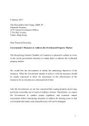 recommendations - The Hong Kong General Chamber of Commerce
