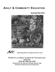 ADULT & COMMUNITY EDUCATION - Perry County School District 32