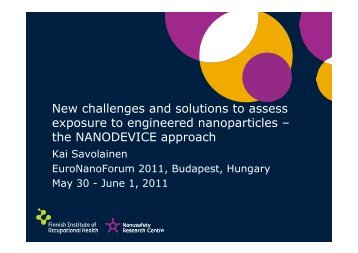 New challenges and solutions to assess exposure to engineered ...