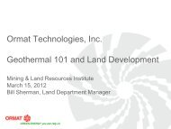 Geothermal Land Issues