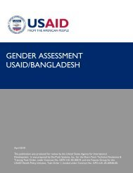 Gender Assessment, USAID/Bangladesh - Health Policy Initiative