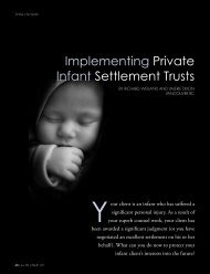 Implementing Private Infant Settlement Trusts - Clark Wilson LLP