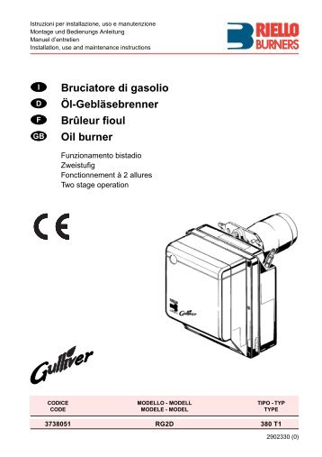 Bruciatore di gasolio Öl-Gebläsebrenner Brûleur fioul Oil burner