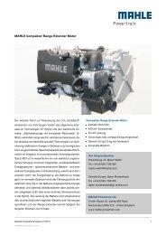 MAHLE kompakter Range Extender Motor - Mahle Powertrain Ltd