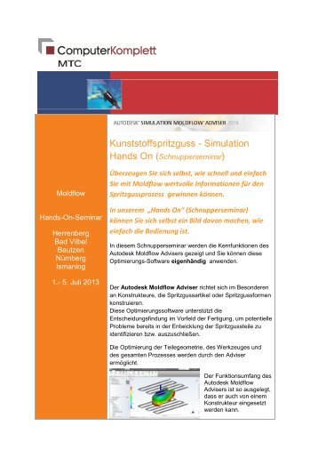Kunststoffspritzguss - Simulation - MTC GmbH